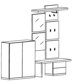 Bienenmühle - Cade - Garderoben Set 3