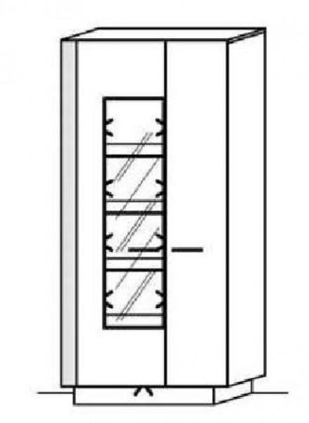 Schröder Kitzalm Alpin - Standelement - Nr. 6315 Blende Aluminium