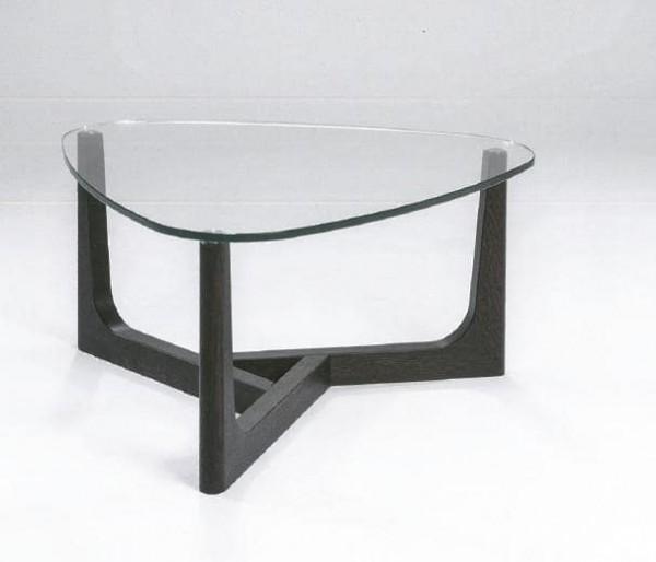 Hasse Glas-Couchtisch Modell 7155 - Platte Klar- oder Bronzeglas