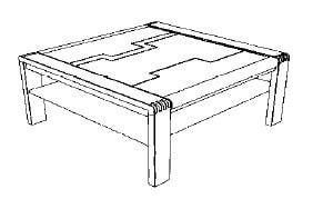 Decker-Möbelwerke - Vigo - Couchtisch - Breite 95 cm