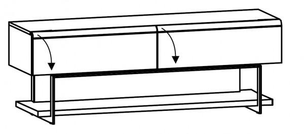 Voglauer V-Cube - Lowboard m. Fachgestell 192/69 - CLF19