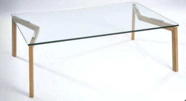 Hasse Glas-Couchtisch - Modell Slim - Tischplatte Klarglas, versch. Größen