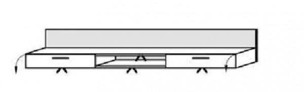 Schröder Kitzalm Alpin - TV-Hängeboard 192 cm - Akzent Aluminium