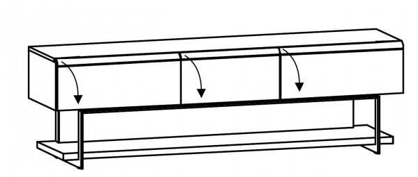 Voglauer V-Cube - Lowboard m. Fachgestell 224/69 - CLF22