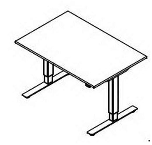 Röhr-Bush - Techno 019 - Schreibtisch Rechteckplatte - elektrisch höhenverstellbar - 180 cm