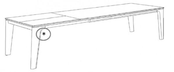 Decker-Möbelwerke - Ramos - Esstisch mit Verlängerung - Länge 180 cm