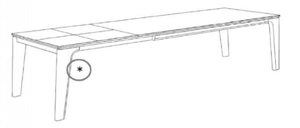 Decker-Möbelwerke - Ramos - Esstisch mit Verlängerung - Länge 200 cm