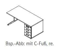 Röhr-Bush - Techno 019 - Schreibtisch mit durchgehender Rechteckplatte - Breite 180 cm