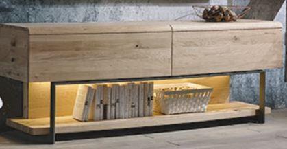 Voglauer V-Cube - Lowboard gerundet m. Fachgestell 192/69 - CLRF19