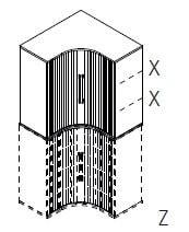 Röhr-Bush - Techno 019 - Eckaufsatz für Artikel-Nr. 391