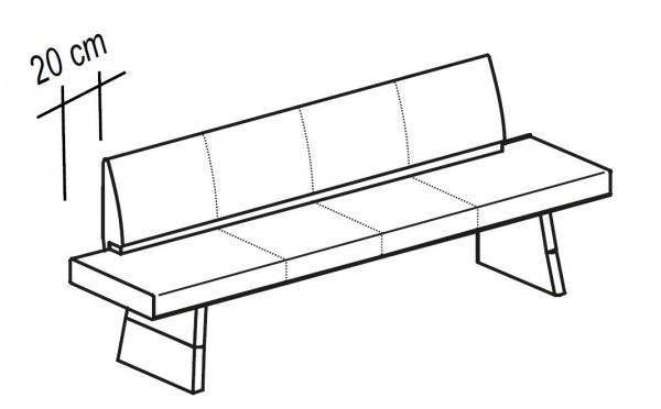 voglauer v solid sitzbank gepolstert mit stollen 180. Black Bedroom Furniture Sets. Home Design Ideas