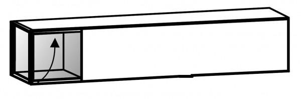 Voglauer V-Cube - Hängeelement 160 - Klappe nach oben - mit Vitrinenteil - CHO16V