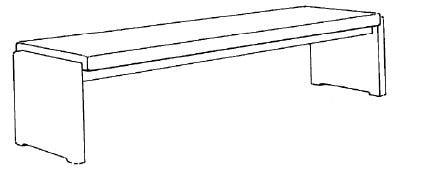Decker-Möbelwerke - Volterra Plus - Sitzbank - PG 1 Flachgewebe - Länge 160 cm
