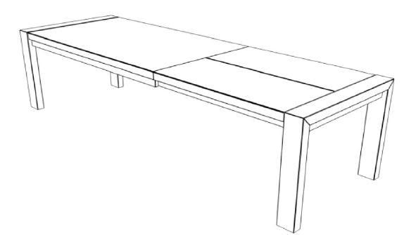 Decker-Möbelwerke - Volterra Plus - Esstisch mit Verlängerung - Länge 220 cm