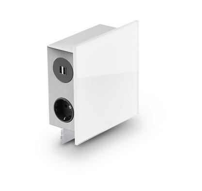 Naber Mira Quad Glas-USB Steckdosenelement