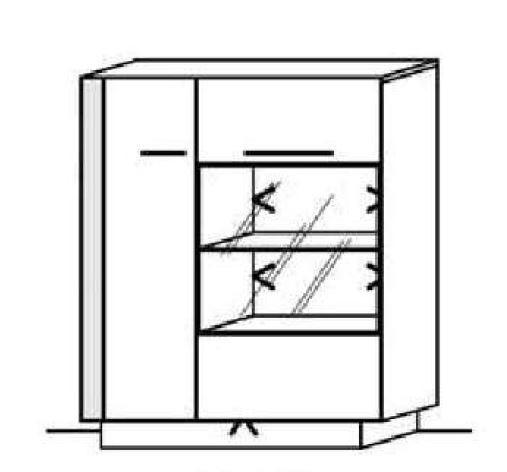 Schröder Kitzalm Alpin - Standelement - Nr. 4515 Blende Aluminium