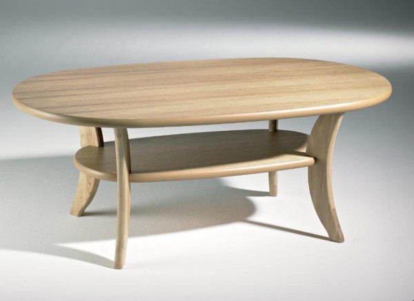 Hasse Holz-Couchtisch-Modell 1097 Eiche
