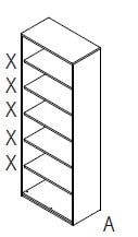Röhr-Bush - Techno 019 - Regal offen mit Rückwand