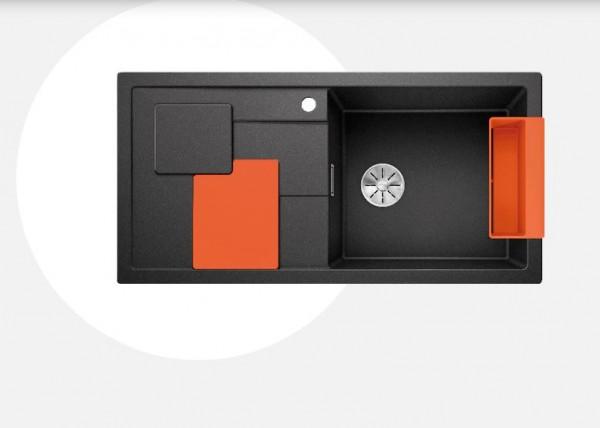 Blanco Sity XL 6 S Einbauspüle mit Zubehör orange