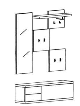 Bienenmühle - Cade - Garderoben Set 7