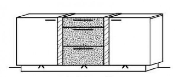 Schröder Kitzalm Alpin - Sideboard - Nr. 3784 Akzent Satinglas