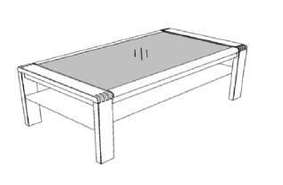Decker-Möbelwerke - Vigo - Couchtisch mit Glasplatte - Breite 130 cm
