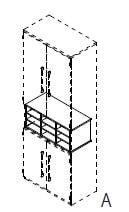 Röhr-Bush - Techno 019 - Fächereinsatz für A4-Papier