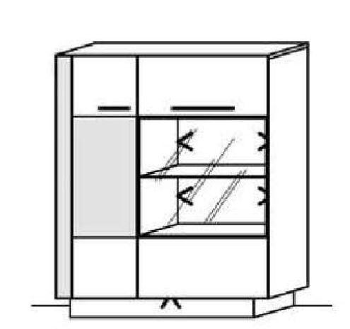 Schröder Kitzalm Alpin - Standelement - Nr. 4519 Akzent Aluminium