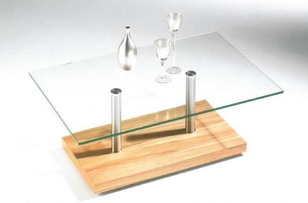 Hasse Glas-Couchtisch - Modell 7399-verschiedene Sockelausführungen