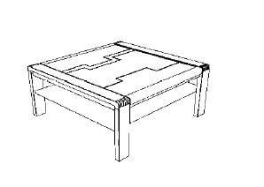 Decker-Möbelwerke - Vigo - Couchtisch - Breite 65 cm